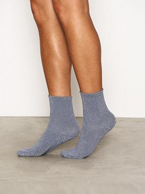 Strumpor - Pieces Pcsebby Glitter Long 5 Pack Socks Blå