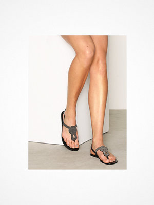 Sandaler & sandaletter - Pieces Pscarmen Leather Sandal New Blk Svart