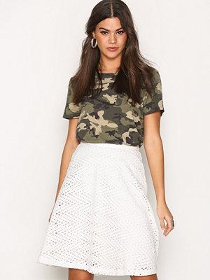 Kjolar - Selected Femme Sfcharline Mw Skirt Vit