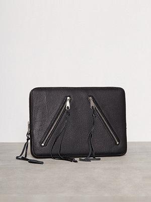 Rebecca Minkoff Moto Zip Sleeve 13 Inch MacBook Svart