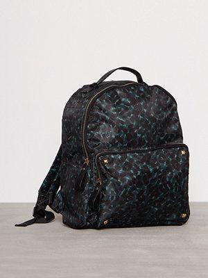 Vero Moda svart mönstrad ryggsäck Vmkatrine Backpack Grön