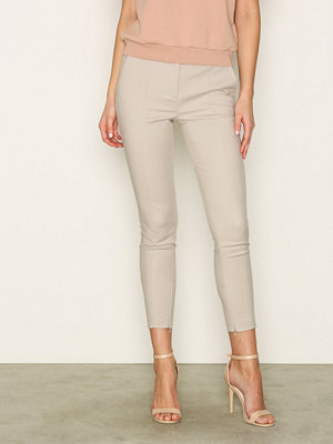 Selected Femme omönstrade byxor Sfmuse Cropped Mw Pant - Dove Ljus Grå