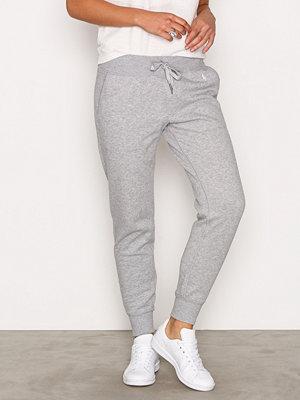 Polo Ralph Lauren ljusgrå byxor Zip Straight Pant Heather