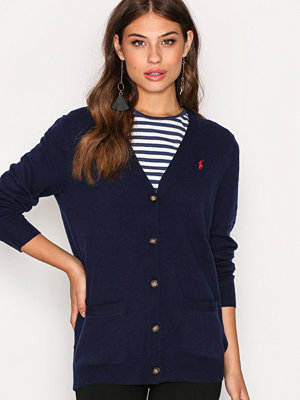 Cardigans - Polo Ralph Lauren BF Cardigan Long Sleeve Navy