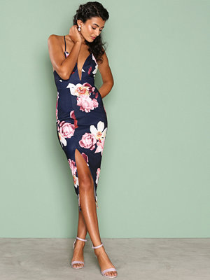 Ginger Fizz Boquet Dreams Midi Dress Navy/Floral