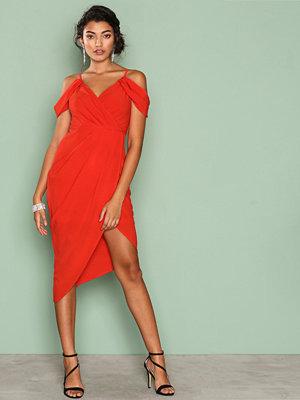 Ginger Fizz True Romantic Drape Dress Red