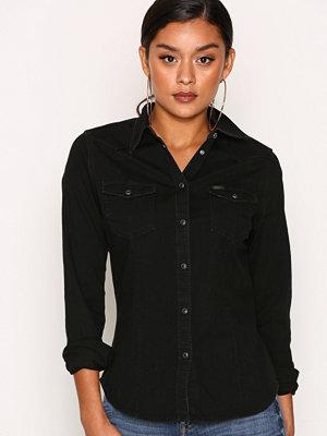 Skjortor - Lee Jeans Slim Western Bleecker Black