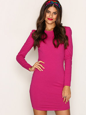 NLY Trend Puff Shoulder Dress Fuchsia
