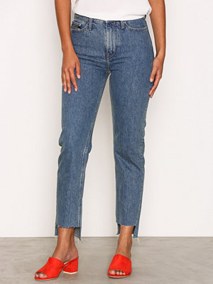 Calvin Klein Jeans HR Straight Ankle Step Blue