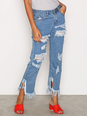 Glamorous Distressed Jeans Mid Blue