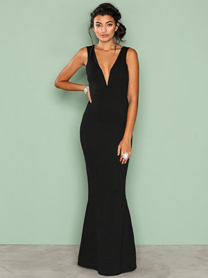 Missguided Plunge Maxi Dress Black