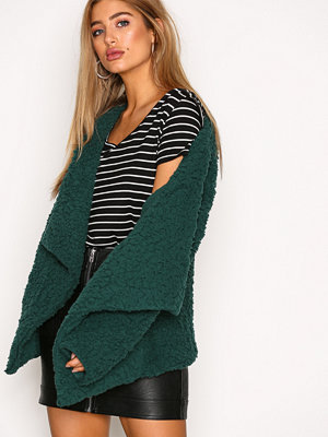 NLY Trend Teddy Soft Jacket Dark Green