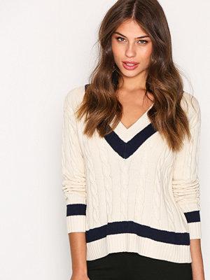 Polo Ralph Lauren V-Neck Sweater Cream/Navy