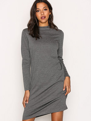 Vila Vifaunas L/S High Neck Dress-Fav Grå