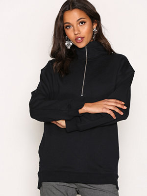 Filippa K Boyfriend Zip Neck Sweatshirt Navy