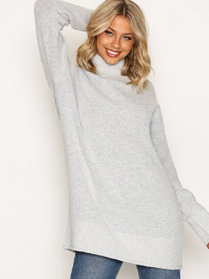 NLY Trend Long Knit Sweater Ljus Grå