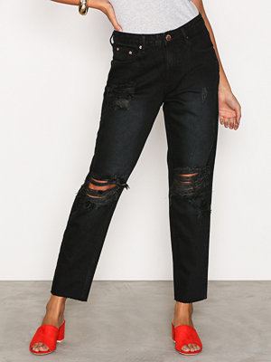 Glamorous Destroy Mom Jeans Washed Black