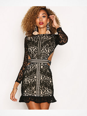 Missguided Lace Cut Out Dress Black