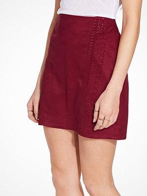 Kjolar - River Island Whipstitch Pelmet Short Skirt Berry