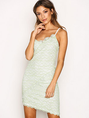 Topshop Lace Trim Dress Mint