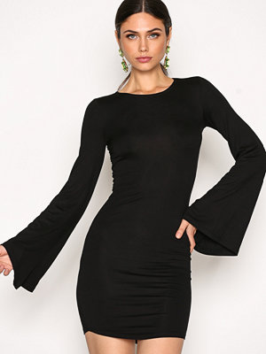 NLY Trend Wide Sleeve Mini Dress Svart