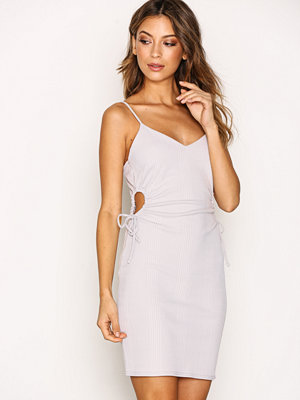 Topshop Drawstring Mini Dress Light Grey