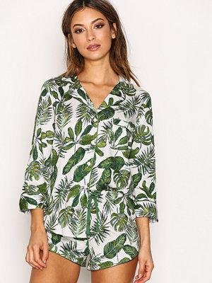 Topshop Palm Print Pyjama Green