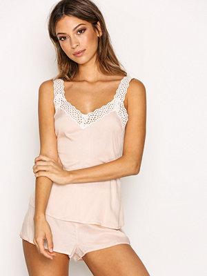 Topshop Broderie Trim Pyjama Pink