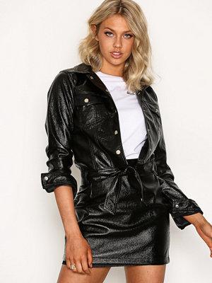 NLY Trend Patent Glam Jacket Svart