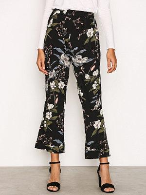 Sisters Point svarta byxor med tryck Gimpo Pants Flerfärgad