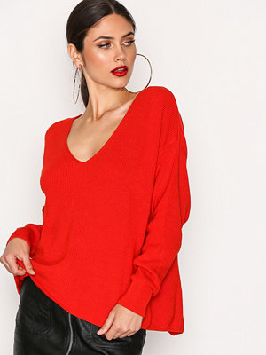 River Island Backless Tie Jumper Red