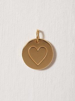Blue Billie smycke Heart Pendant Guld
