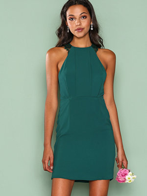 NLY Trend Crepe Lace Dress Mörk Grön
