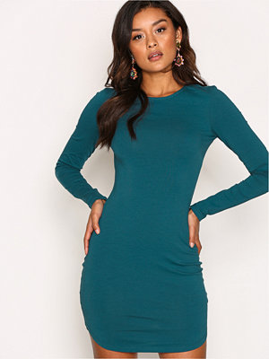 NLY Trend Off Duty Round Neck Dress Blå