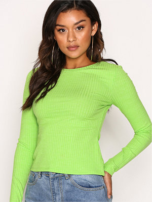 NLY Trend Wide Rib Top Lime