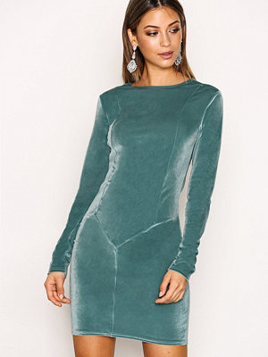 NLY Trend Velvet Mini Dress Dusty Mint