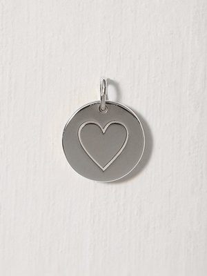 Blue Billie Heart Pendant Silver