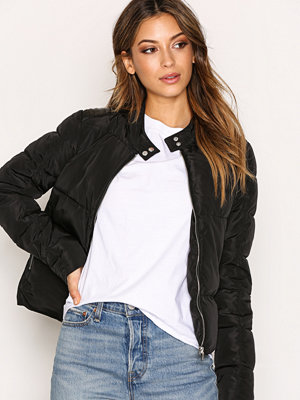 Only onlKELLY Nylon Biker Jacket Otw Svart