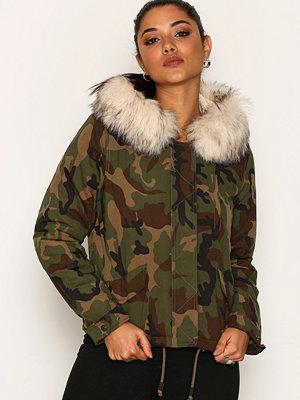 Only onlSKYLAR Aw Fur Parka Cc Otw Camouflage