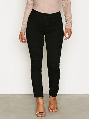 Vero Moda Vmseven Nw Ss Jeans Black VI600 Noo Svart