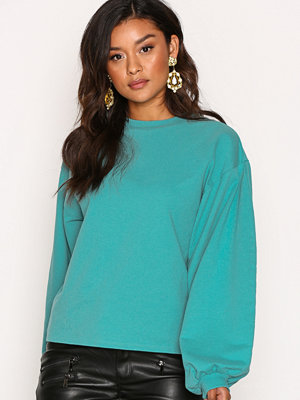 NLY Trend Big Balloon Sweat Teal