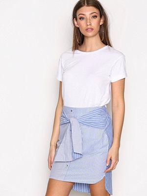 Kjolar - River Island Stripe Shirt Skirt Blue/White