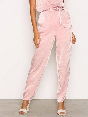 Pieces byxor Pclene Hw Pants D2D Rosa