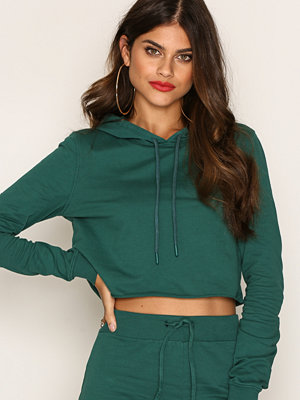 NLY Trend Cut And Cropped Sweat Mörk Grön