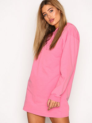 NLY Trend Open Back Hoodie Neon Pink