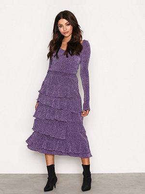 Kjolar - NLY Trend Sparkling Frill Skirt Lila