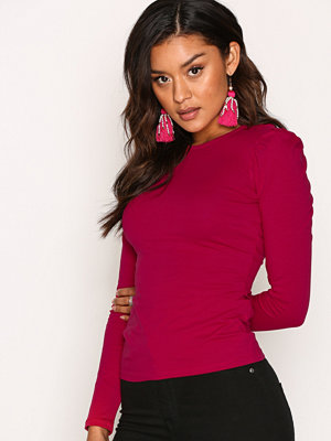NLY Trend Puff Shoulder Top Sangria