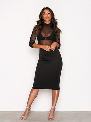 Festklänningar - NLY One Mesh Midi Dress Svart