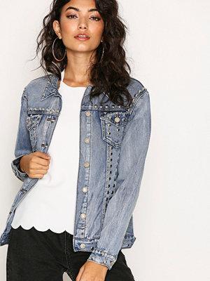 Glamorous Stud Jeans Jacket Antique