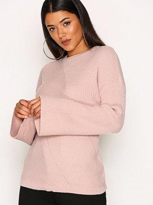 Vero Moda Vmella Wide Sleeve Rib Blouse Vip Ljus Rosa